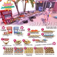 [LJ] Surfy Snacks Gacha Key (Tala Laval) Tags: life party summer food snow beach cookies yummy key mesh machine shrimp donuts hawaiian second snacks cones watermellon skewers kebabs elephante gacha givers gatcha