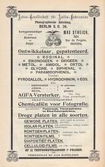Agfa advertisement Lux November 1899 (Hans Kerensky) Tags: november nederland belgi advertisement nl agfa rodinal lux fr gesellschaft 1899 actien anilinfabrication