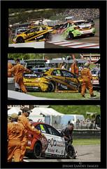 Matt Neal Josh Cook Crash (jdl1963) Tags: cars car sport honda matt championship crash cook racing mg josh r type civic british motor touring neal motorsport collision btcc thruxton 6gt