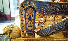 Nebkheperure - Tutankhamun's gold throne (Amberinsea Photography) Tags: golden chair egypt cairo throne tutankhamun cartouche cairomuseum nebkheperure amberinseaphotography