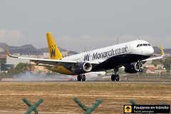 Airbus A321 Monarch (Ana & Juan) Tags: closeup canon airplane airport aircraft aviation airplanes landing alicante monarch planes spotting aviones alc a321 aviacin spotters spotter leal monarchairlines