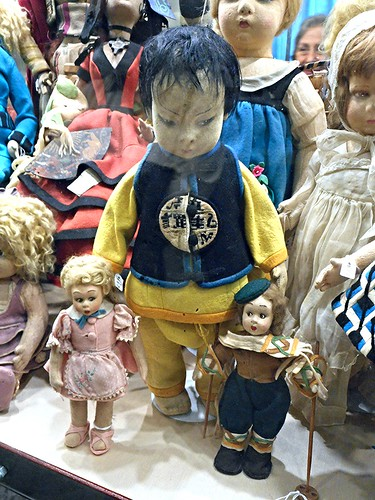 Doll (Turin, Italy, LENCI type) after 1919 - Historical dolls from 18th to 20th century - Temporary exhibition - Royal San Carlo Theatre in Naples