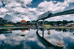 Epcot, Florida (spey2008) Tags: flowers epcot disney monorail