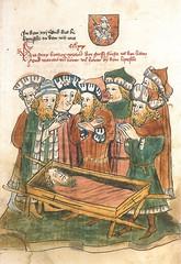 Vytautas funeral, from unknown source (Historystack) Tags: deaths grandduchyoflithuania historyofbelarus historyoflithuania sigismundholyromanemperor vytautas trakaiislandcastle