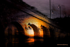 BRIDGE OVER TROUBLED WATER. (+ Music ) (Viktor Manuel 990) Tags: mxico night noche digitalart bridges puentes artedigital sanmiguelallende bridgeovertroubledwater victormanuelgmezg guanjuato