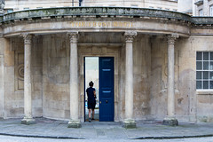 Lady walking through door of The Cross Bath (Ian Redding) Tags: door old city woman building pool beautiful architecture lady bath roman entrance somerset historic steam doorway staff baths georgian magical spa luxury unescoworldheritage entering opendoor thecrossbath