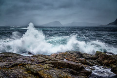 Winter storm (Usstan) Tags: winter sea sky seascape storm cold water rain norway clouds lens landscape norge nikon rocks waves seasons wind outdoor no rough nikkor westcoast sande locations costal seaspray sunnmre mreogromsdal 1685mm d7000