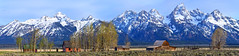 Mormon Row Grand Tetons, Wyoming (Arby's) Tags: panorama mountains farmhouse barn spring farm pano wyoming grandtetons tetons