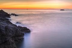Couch de soleil sur Dinard, Bretagne, France (AleX.D - SuShY**) Tags: canon canon7d uga 1022 poselongue soleil couchdesoleil eau water dinard bretagne sunset sea france