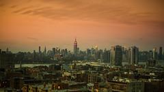 I Came So Far for Beauty (Thomas Hawk) Tags: america brooklyn empirestatebuilding manhattan nyc newyork newyorkcity usa unitedstates unitedstatesofamerica sunset fav10 fav25 fav50 fav100