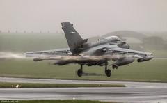 RAF Panavia Tornado GR4 ZD849/110 XV (R) Squadron; RAF Lossiemouth, Moray (Michael Leek Photography) Tags: aircraft landing aeroplane panaviatornado panavia tornado tornadogr4 rain michaelleek weather northeastscotland scottishaviation michaelleekphotography raf raflossiemouth gr4 xvsquadron ocu operationalconversionunit militaryaviation militaryaircraft militaryjet nato fastjet