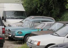 Singer Vogue, Panhard 24C and Fiat 128 (Spottedlaurel) Tags: panhard 24c singer vogue fiat 128