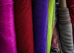 Fabric (SarahJKelleher) Tags: fabric colour colors colourful colorful pink red purple green bokeh dof depthoffield toronto ontario canada shadow shadows nikon nikond7200 nikon35mm 35mm lightroom
