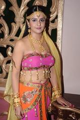South Actress CHARULATHA Hot Photos Set-2- at Sri Ramanujar film shooting (8)