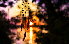 Dreams (--Conrad-N--) Tags: dream catcher traumfnger bokeh reflection sunset scharmtzelsee kurort bad saarow