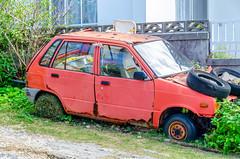 Old Red Car (Ryukyujin) Tags: okinawa ryukyu island          car junk vintage red