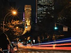 Going Downtown (Lojones13) Tags: night fifthavenue newyork lights downtown manhattan outdoor nightcape nikon d7000 50mmf18