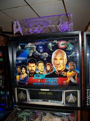 Star Trek The Next Generation (scottamus) Tags: pinball machine table game arcade backglass backbox topper art artwork design graphics startrekthenextgeneration williams 1993