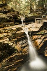 Upper falls, Sabbaday Falls, Kancamagus Highway (alohadave) Tags: autumn brook fall kancamagushighway newhampshire northamerica pentaxk5 places sabbadaybrook sabbadayfalls season unitedstates water waterfall smcpda1650mmf28edalifsdm