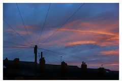Connected (SFB579 Namaste) Tags: communication connected wires pole telegraph sunrise dark early morning sky clouds colours vivid bright am sunshine reflected skies orange blue yellow black wakefield outwood sony