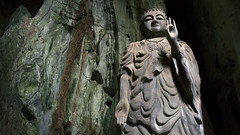 Buddha of the Cave (Tinker & Rove) Tags: marblemountains danang vietnam southeastasia cave grotto marble buddha statue carving lampenflora algae moss travel tang chon
