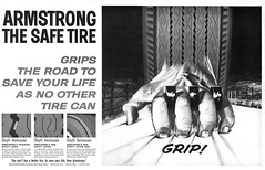 1965 Armstrong Tires ad (Tom Simpson) Tags: armstrong tire tires vintage ad ads advertising advertisement vintagead vintageads hand grip gripping 1965 1960s