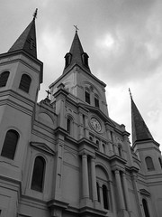 St. Louis Cathedral (Right Brain | Chris Piazza) Tags: blackandwhite bw church blackwhite cross neworleans stlouiscathedral louisianna rightbrain
