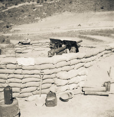 Gun pit (Michael de Stacpoole) Tags: artillery koreanwar kforce newzealandhistory kayforce 163battery royalnewzealandartillery 16fieldregiment 163bty 16nzfdregt