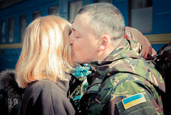 IMG_1586 (bobobahmat) Tags: family portrait people woman man color girl face station soldier army eyes military meeting lviv ukraine spray trail wife ukrainian officer
