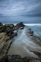 Returning To The Sea - 9039 (www.karltonhuberphotography.com) Tags: ocean longexposure seascape motion texture water lines vertical mystery landscape flow rocks soft pretty moody action tide calming wideangle lazy dreamy southerncalifornia current leadinglines 2015 landscapephotography lagunabeachcalifornia silkywater nikkor1735mm ebbingtide foregroundinterest mosscove nikond7000 karltonhuber