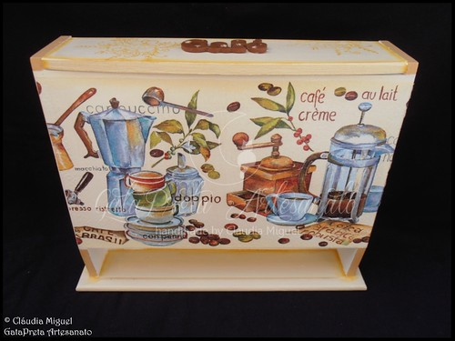 """Conjunto de cozinha """"Hot Coffee, Hot Tea"""""""