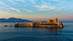 Monte Cristo sad castle (Murphy13006) Tags: sea mer castle water clouds sunrise island marseille mediterranean ile if chateau nuages mediterrane