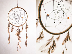 Dreamcatcher (#3) (Arina Borevich) Tags: light orange brown sunlight white color net beautiful vertical closeup circle diy beads beige natural bokeh handmade background interior indian feathers feather culture craft sunny charm round backgrounds bead hanging canonef35mmf2 decor ethnic hang homedecor circular amulet dreamcatcher talisman accessory 6d canon35mmf2 canon6d vsco canoneos6d vscofilm