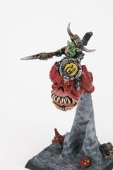 Night Goblin Warboss on Great Cave Squig (revolution8) Tags: night fantasy goblin warhammer warboss whfb squig