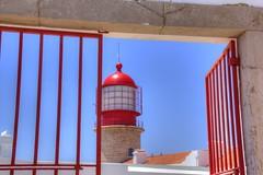 Cabo de So Vicente (Rasande Tyskar) Tags: red lighthouse rot portugal faro algarve phare leuchtturm cabodesovicente