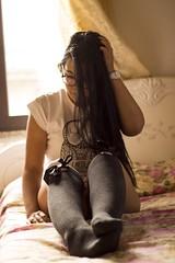 Nadia (diego_russo) Tags: girl bed nadia longhair brunette cama letto pelo morena cabello capelli mora diegorusso