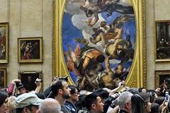 Ignoring Veronese (AntyDiluvian) Tags: trip paris france museum gallery audience louvre crowd monalisa davinci leonardo jupiter 2015 veronese jupiterhurlingthunderboltsatthevices