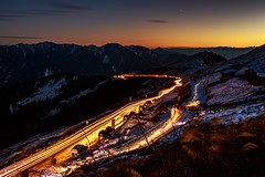 (JIMI_lin) Tags: longexposure snow taiwan    cartrails cartrack    hehuanmountain