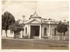 Town Hall Wagga (Daddys 'lil Girl) Tags: postcard australia nsw historical 1949 wagga albury riverina