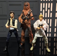 Han, Luke, Chewbacca on the Death Star (chevy2who) Tags: 6 toy death star inch action space luke solo figure wars walls six han chewbacca hasbro
