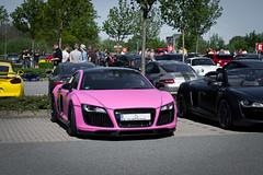 Pink R8 (ExoticsofGermany) Tags: pink liberty mercedes italia 4x4 walk sunday hamburg ferrari audi tuning supercar squared r8 g500 458