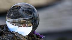An der Steinernen Brcke // Mit der Kugel durch Regensburg (seyf\ART) Tags: town stadt refraction regensburg ratisbon crystalball glaskugel