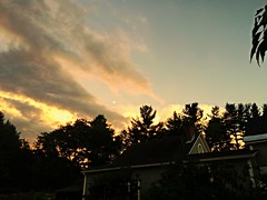 New House (disneyred) Tags: sunset summer sky cloud clouds moving outdoor dusk newengland newhampshire roadtrip keene
