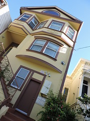 Yellow Victorian House, San Francisco (8:40am) Tags: sanfrancisco yellow victorianhouse