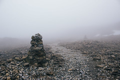 Standing Stones (Alex Holyoake) Tags: scotland unitedkingdom gb mountain mountainrange bennevis river hill rockface driving mirror car clouds mist