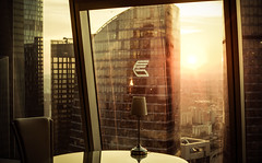 18191-2 (i.gorshkov) Tags: urban travel architecture moscow city skyscraper sunset sun sky clouds orange horizon beautiful view hotel room indoor outdoor business dawn evening building cityscape blue