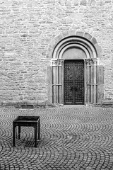 curves 'n angles (mniesemann) Tags: ifttt 500px essen church portal historic schwarzweiss cobblestone table tray natursteinmauer geometrical kirche leica digilux 2