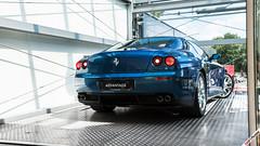 Blu Abu Dhabi (m.grabovski) Tags: ferrari 612 scaglietti blu abu dhabi blue car lift advantage cars showroom prague praha cz czech republic mgrabovski