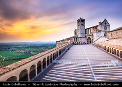 Italy - Umbria Region - Assisi - Historical town and birthplace of St. Francis - UNESCO World Heritage Site - Mother church of Roman Catholic Order of Friars Minor - Franciscan Order at Sunset ( Lucie Debelkova / www.luciedebelkova.com) Tags: assisi umbria region umbriaregion italy italian italia italie italianrepublic republicofitaly repubblicaitaliana southeurope europe europeanunion eu italianpeninsula world exploration trip vacation holiday place destination location journey tour touring tourism tourist travel traveling visit visiting sight sightseeing wonderful fantastic awesome stunning beautiful breathtaking incredible lovely nice best perfect