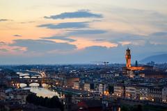 (ola_alexeeva) Tags: firenze florence italy   exploring  sunset   bridge sky skyline  city view panoramic    architecture italian